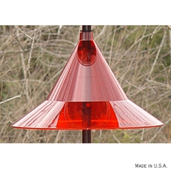 Squirrel Away Pole Baffle Ruby Red