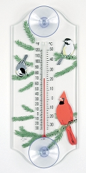 Cardinal/Chickadee Classic Window Thermometer