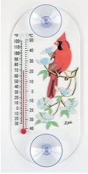 Cardinal/Dogwood Original Window Thermometer