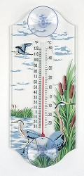 Great Blue Heron Classic Window Thermometer