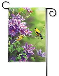 Finch Pair Garden Flag