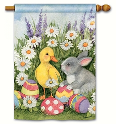 Easter Babies House Flag