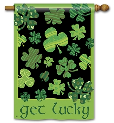 Get Lucky Double Sided House Flag