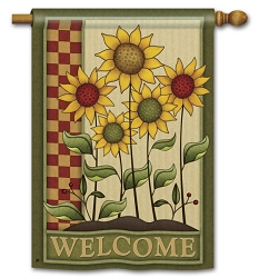 Simply Sunflowers Double Sided House Flag