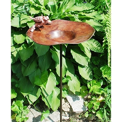 Achla Antique Brass Birdbath