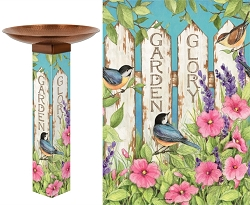 Garden Glory Art Pole Birdbath 5x5