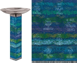 Rhythmic Blues Art Pole Birdbath 5x5