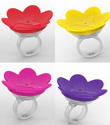 Hummer Ring™ Handheld Hummingbird Feeder Assorted Colors 4/Pack