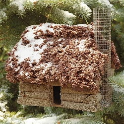 Log Cabin Edible Birdhouse