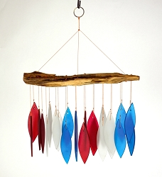 Red, White and Blue Driftwood Wind Chime
