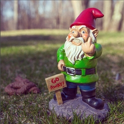 Go Away! Garden Gnome