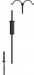 Birds Choice Complete Pole Package 2 Arm