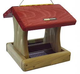 Birds Choice Cedar 1-1/2 Quart 2-Sided Hanging Hopper Feeder