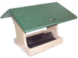Birds Choice Recycled Plastic 7 Quart 2-Sided Hopper Feeder