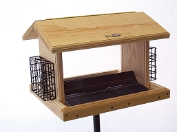 Birds Choice Cedar 11 Quart 2-Sided Hopper Feeder w/Suet Cages