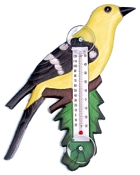 Goldfinch on Branch Window Thermometer Small