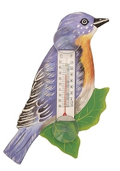 Bluebird on Branch Window Thermometer Small