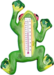 Climbing Green Frog Window Thermometer Large