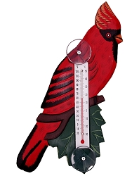 Cardinal on Branch Window Thermometer Large