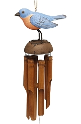 For The Birds Bluebird Bamboo Windchime