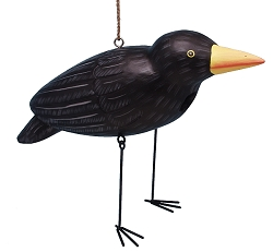 Crow Dangle Leg Birdhouse