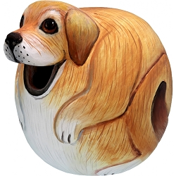 Dog Lab Ball Birdhouse