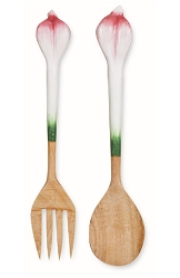 Garlic Salad Server Set