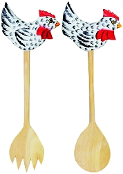 Black & White Chicken Salad Server Set