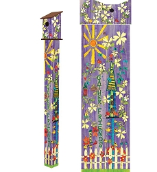 Birdhouse Art Pole 6' Gather Friends