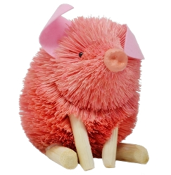 Brushart Pink Pig Sitting 6