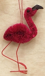 Brushart Bird Ornament Flamingo