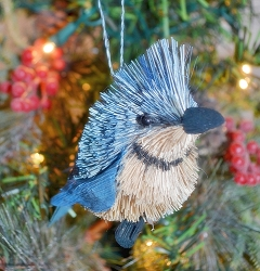 Brushart Bird Ornament Blue Jay