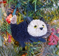 Brushart Black Kitten Ornament