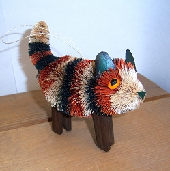 Brushart Calico Kitten Standing Ornament