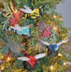 Brushart Dragonfly Assortment Ornament Set of 4