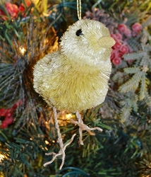 Brushart Chick with Legs Ornament