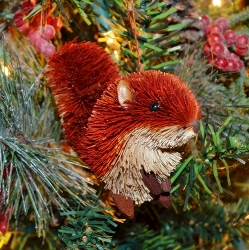 Brushart Red Squirrel Ornament