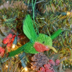 Brushart Bird Ornament Hummingbird