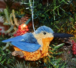 Brushart Bird Ornament Kingfisher