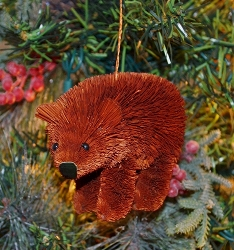 Brushart Brown Bear Ornament