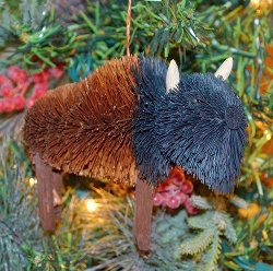 Brushart Bison Ornament