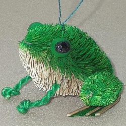 Brushart Frog Sitting Ornament