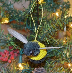 Brushart Bumble Bee Ornament