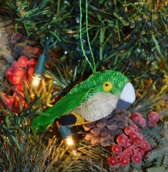Brushart Parakeet Ornament