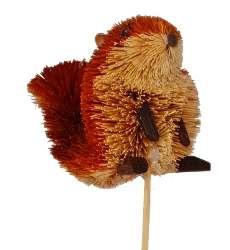 Brushart Squirrel on a Stick