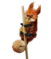 Brushart Fox on a Stick