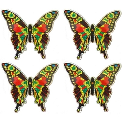 Large Multi-Colored Butterfly Screen Saver Magnet Set of 4