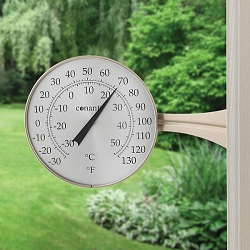 Decor Large Dial Thermometer Satin Nickel