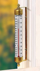 Vermont Indoor/Outdoor Thermometer Brass