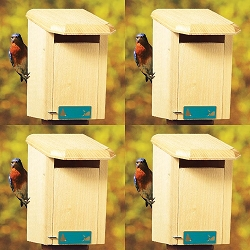 Conservation Sparrow Resistant Bluebird House Package w/Pole Kit